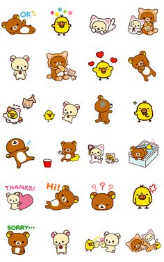 画像 - Rilakkuma Animated Stickers by Imagineer Co.,Ltd. / San-X Co., Ltd. - Line.me