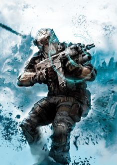 Beautiful Tom Clancy's Ghost Recon: Future Soldier artwork uploaded by IGC - Arctic Strike - Cover Art 02 Alien Character, Military Special Forces, Future Weapons, Future Soldier, Futuristic Art, Tom Clancy, Fantasy Armor, Fantastic Art, Military Art