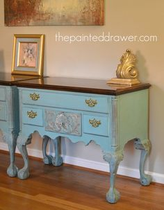 Annie Sloan Provence French Henredon Tables www.thepainteddrawer.com
