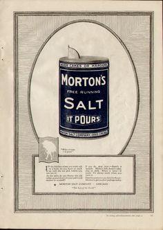 Morton Salt (1921) 1920s Advertisements, Morton Salt, Vintage Ads, Artsy, Day, Texas, Collections, House, Haus