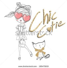 cutie girl 2 - stock vector id 190475819