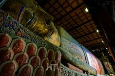 Giant Sleeping Buddha of Zhangye, Gansu, China.