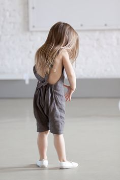 Linen romper Toddler romper Harem shorts with by Marumakids