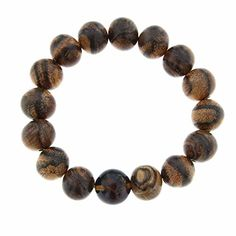 Starborn Creations Blue Sumatra Amber and Agarwood Beaded Elastic Bracelet >>> You can get more details by clicking on the image.
