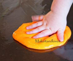 """Gak"" recipe that doesn't use Borax (yay!) this might be safer for boo boo."