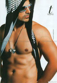john abraham | John Abraham in Dabu Ratani photo-shoot modeling pose | John Abraham ...