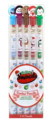 Alternative view 1 of Smencils Graphite Holiday Scented Pencils - 5 Pack