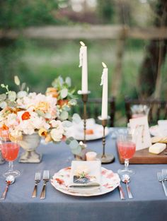 Poppy and pink floral wedding inspiration   Photo by Whitney Neal   Read more - http://www.100layercake.com/blog/?p=68228