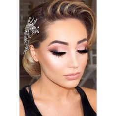 30 Wedding Make Up Ideas For Stylish Brides ❤ liked on Polyvore featuring beauty products, makeup and face makeup