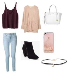 """""""Fall outfit"""" by natalie001 on Polyvore featuring Frame, BCBGeneration, MANGO, Michael Kors, Rebecca Minkoff and Humble Chic"""