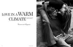 Benjamin Eidem (REQUEST) and Cameron Russell (ELITE) for Man About Town. Shot by Lachlan Bailey.