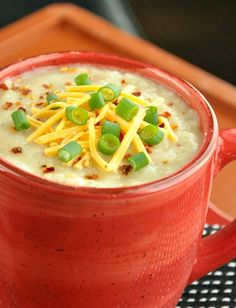 Veggie Loaded Baked Potato Soup #healthy #vegetarian #crockpot