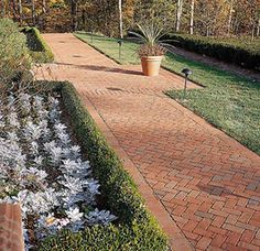 Brick Walkways | Tips and Photos Herringbone pattern