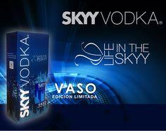 Pack Life In The Skyy Skyy Vodka + vaso edición limitada  Encuéntralo en todos los locales de LA TABERNA liquor store a Nivel nacional  #LifeInTheSkyy Skyy Vodka, Energy Drinks, Red Bull, Beverages, Neon Signs, Canning, Vase, Drinks, Conservation