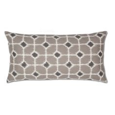 Gray and White Ikat Diamonds Throw Pillows   Great site for decorative pillows and bedding   www.craneandcanopy.com