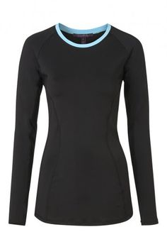 Long Sleeve Technical Top With Mesh Inserts