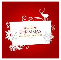 Christmas greeting card Merry Chistmas, Merry Christmas Banner, Merry Christmas And Happy New Year, Retro Christmas, Christmas Greeting Cards, Christmas Art, Christmas Greetings, Greeting Card Template, Card Templates