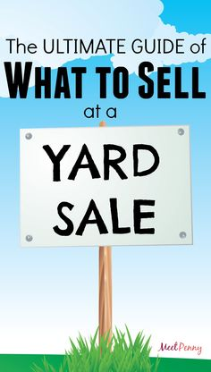 HUGE LIST. After hosting dozens of yard sales (and shopping at many more), I have tons of garage sale tips but this is my ultimate list of what to sell at a yard sale.