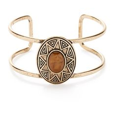 Forever 21 Southwestern-Etched Cutout Cuff ($5.90) ❤ liked on Polyvore featuring jewelry, bracelets, accessories, forever 21 jewelry, boho chic jewelry, fake jewelry, stone pendants and imitation jewelry