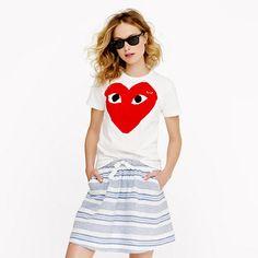 PLAY Comme des Garçons® red heart tee