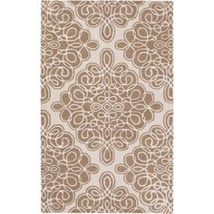 Modern Classics Off White and Tan Rectangular: 3 Ft. 3 In. x 5 Ft. 3 In. Rug - (In Rectangular)
