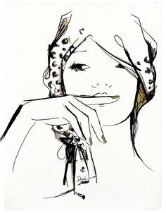 linda ilustração de moda