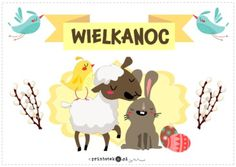 Wielkanoc. Napis - Printoteka.pl Kids And Parenting, Diy And Crafts, Classroom, Easter, Education, Children, Decor, Activities, Speech Language Therapy