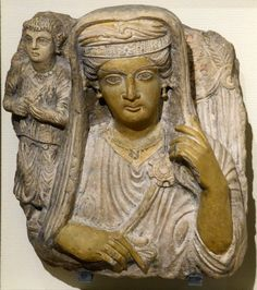 Palmyra, tombstone of a mother and daughter