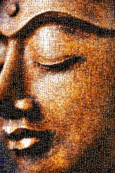 Buddha mosaic..** Arielle Gabriel, author of The China Adventures of Arielle Gabriel is a Buddhist who writes about the miracles of Kuan Yin in her book The Goddess of Mercy & The Dept of Miracles, when she suffered financial disaster in the mercenary city of Hong Kong *