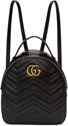 0840d25dd636 Gucci - Black GG Marmont Backpack Black Gucci Backpack