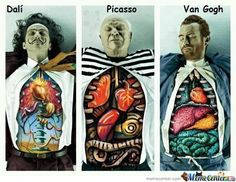 Dali / Picasso / Van Gogh