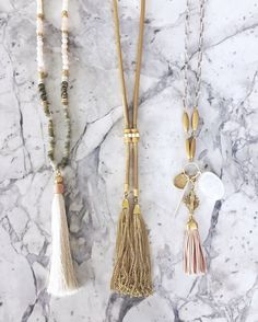 Antonia, Jacqueline and Victoria: 3 of our favorite #trendingtassels! Which style is your favorite? #stelladotstyle by @lifeonhibiscusway