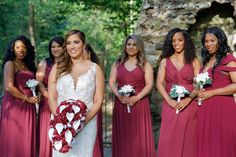 Beautiful Burgundy Wedding in June - Vecoma at the Yellow River