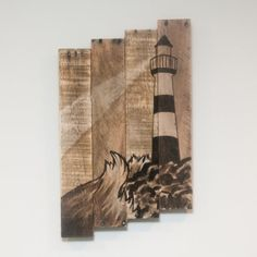 Lighthouse art Lighthouse decor Nautical art by SimplyPallets