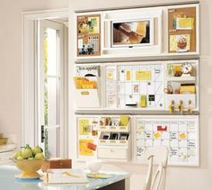 above desk ideas | Do you have any organization tricks for your home office? Is there a ...