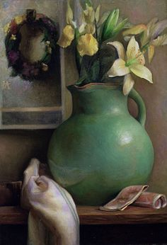 Lilies and LaFarge by Juliette Aristides, Oil on canvas