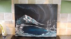 How to Spray Paint Art - Northern Lights on Canvas