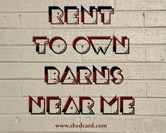 Our website: https://www.shedcard.com/ Our Rent To Own Barns Near Me provides storage in your backyard for about the same cost (per square foot) of renting at an offsite storage unit. Forget about using out-of-the-way, inaccessible storage units with a never-ending monthly charge. You can own your own in 36 months (or less) and never make another payment.  Profile : https://in.pinterest.com/renttoownbarns/ More Typo: https://in.pinterest.com/pin/807622145648237648/