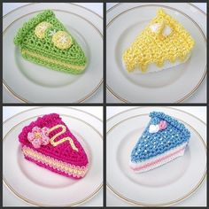 Crochet Cake Slices  pdf pattern by email by LynnesPatternParlour, $3.50