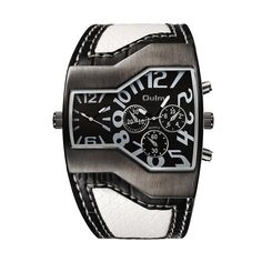 Oulm Top Luxury Brand Men Quartz Watches Double Time Show Snake Band Casual Male Sports Watches