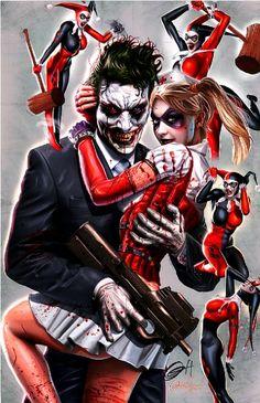 Harley #Quinn (Harleen Quinzel) and The #Joker