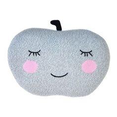 Blabla æble pude - Apple grey ~ Blabla Kids