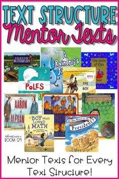 Mentor Texts Nonfiction Text Structure Picture Books is part of Nonfiction text structure - Need to help bring text structure to life for your students Check out these unique mentor texts that I've picked out just for you! Writing Mentor Texts, Mentor Sentences, Third Grade Reading, Second Grade Books, Authors Purpose, Reading Strategies, Reading Comprehension, Comprehension Strategies, Reading Resources