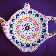 Happy monday ❤ #hipmetstip #stippen #colorfull #handmade #theetipjestippen #happy #polkadot