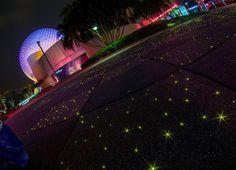 Future World at Epcot at Night in Walt Disney World