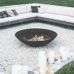 The Grove Byron Bay fire pit Outdoor Areas, Outdoor Rooms, Outdoor Living, The Grove Byron Bay, Orquideas Cymbidium, Fire Pit Area, Fire Pit Backyard, Outdoor Fire Pits, The Design Files