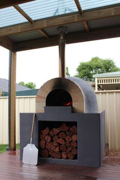 Pompeii Wood Fired Pizza Oven in house-style enclosure