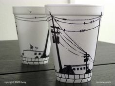 Sharpie on styrofoam: anything can be a canvas!