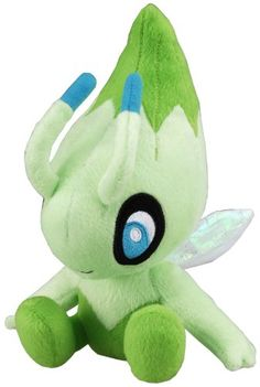 "Pokemon Diamond  Pearl Plush Stuffed Toy - 8"" - Celebi SO GODDAMN CUTE"