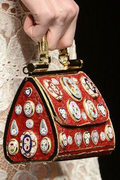 Dolce & Gabbana Fall 2013, purse w/Italian mosaics